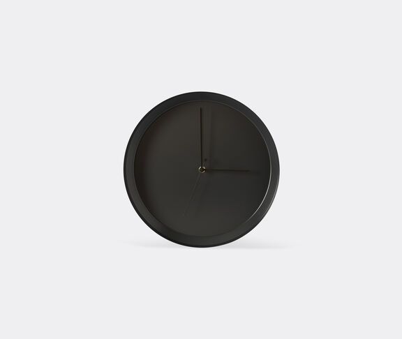 Atipico Dish Clock Iron Wall Clock - Ø Mm 335Xh.35 - Black Grey 1