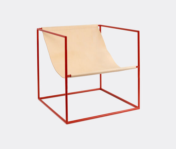 Valerie_objects 'Solo' seat, red and leather