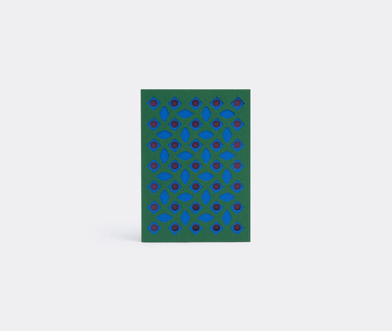 Dotsy Pattern card, blue, purple and green