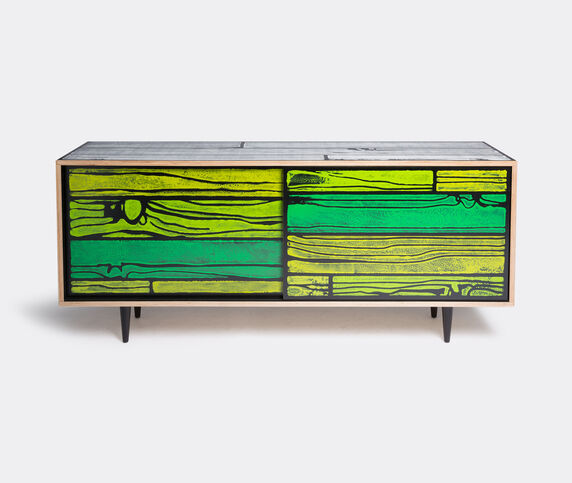Established & Sons 'Wrongwoods' low cabinet, green