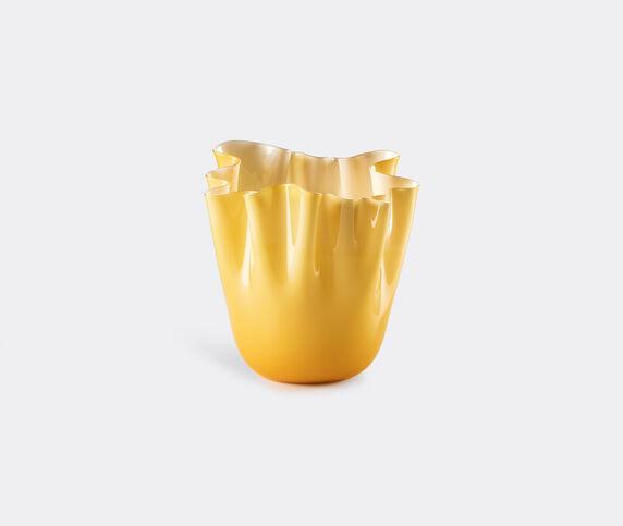 Venini 'Fazzoletto Opalino' vase, L, amber