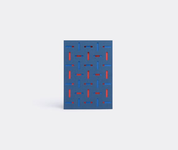 Dotsy Pattern card, blue and red