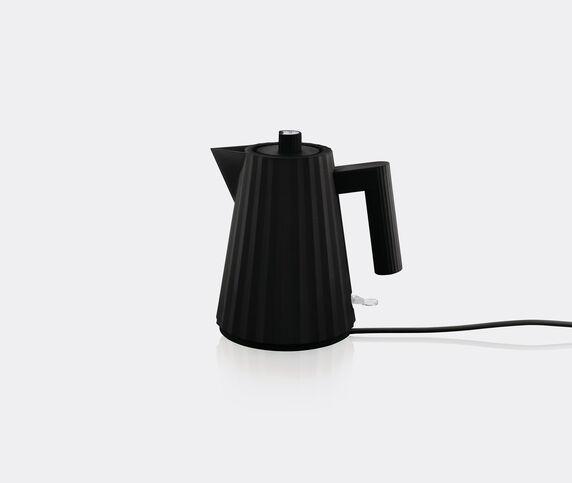 Alessi Plissé' electric kettle, black, EU plug