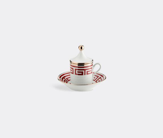 Ginori 1735 'Labirinto Tête à tête', coffee set of two, red