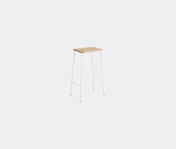 Frama 'Adam' stool, M, oak and white