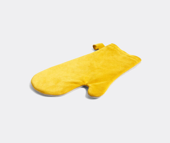 Hay 'Suede' oven glove, yellow