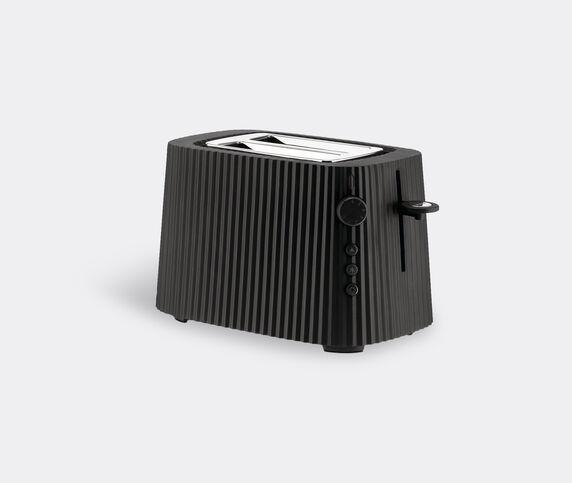 Alessi 'Plissé' toaster, black, UK plug