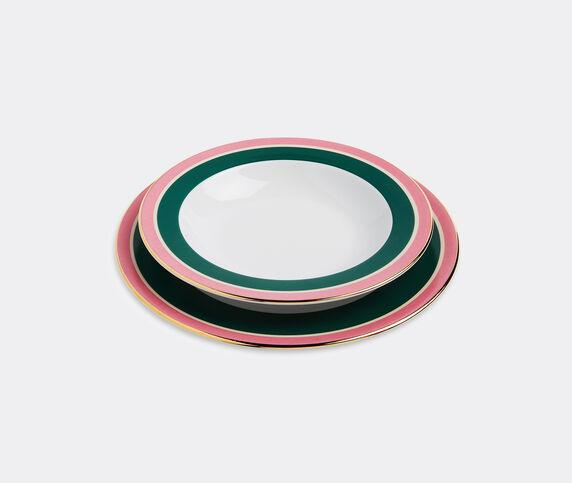 La DoubleJ 'Rainbow Verde' soup and dinner plate set