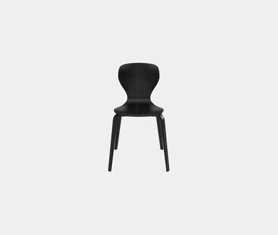 Viccarbe 'Ears' chair, wooden legs, black