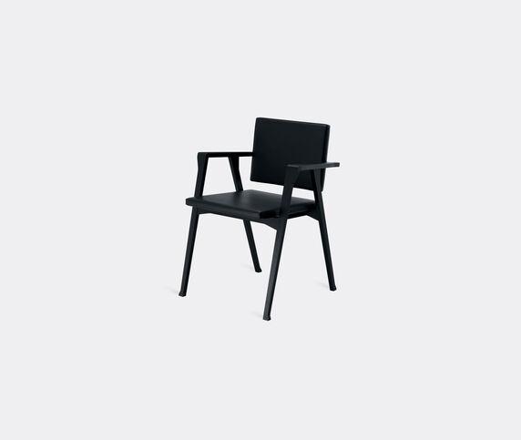 Cassina 'Luisa' small armchair, black leather