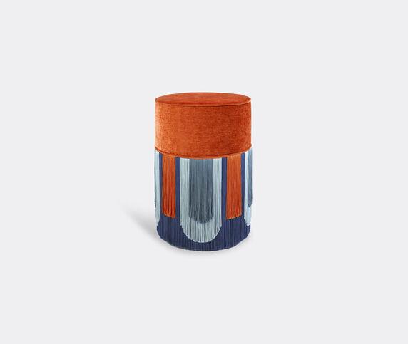 Lorenza Bozzoli Couture 'Couture Geometric Decò' ottoman, orange