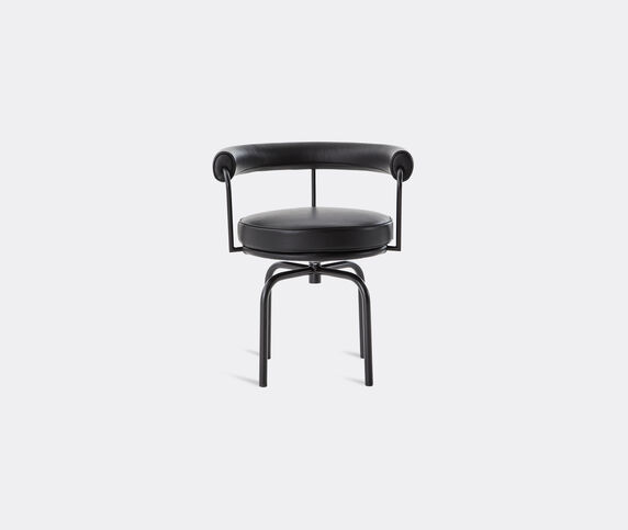 Cassina 'LC7' swivel chair, black structure