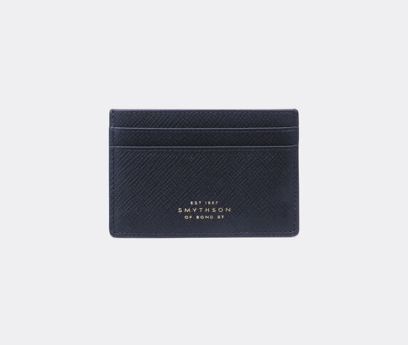 Smythson 'Panama' card holder, navy