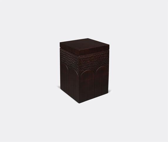 Zanat 'Branco' box, tall, brown