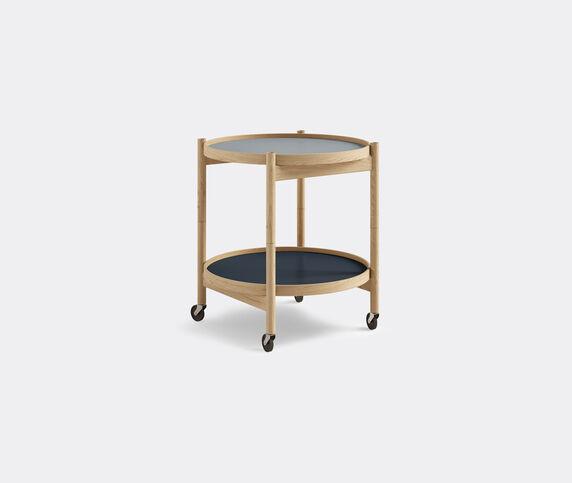 Brdr. Krüger 'Bølling' tray table, 500mm, oak, blue