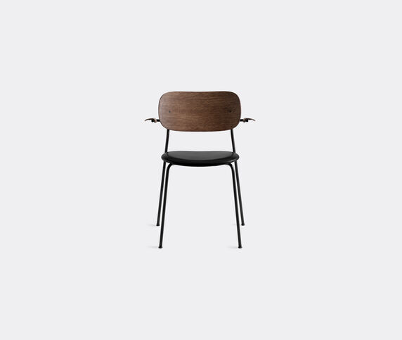 Menu 'Co Chair' with armrests, brown back