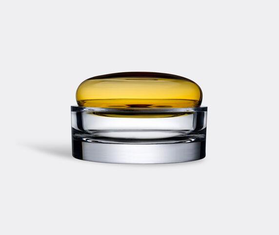 Nude 'Ecrin' lidded vessel, wide, amber