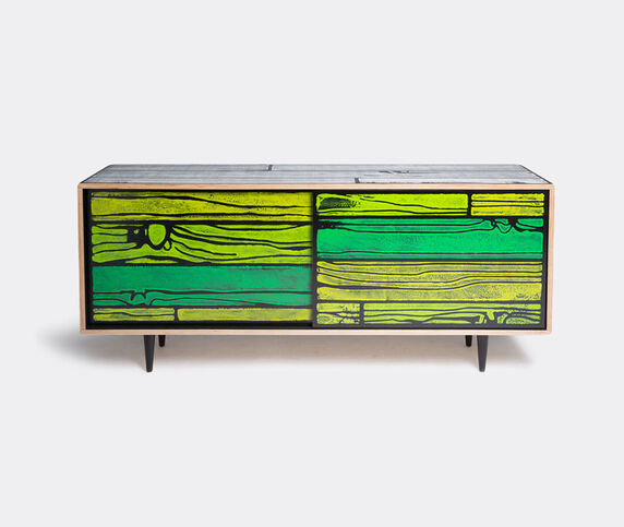 Established & Sons 'Wrongwoods' low cabinet, white and green