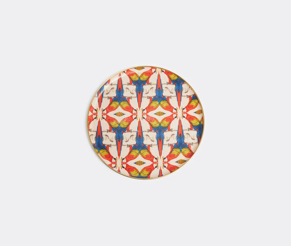 Les-Ottomans Patch NYC tray, red and blue