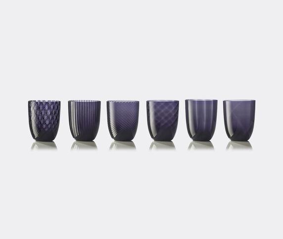 NasonMoretti 'Idra' water glass, set of six, purple