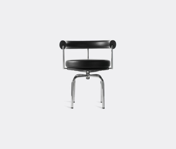 Cassina 'LC7' swivel chair, chrome structure