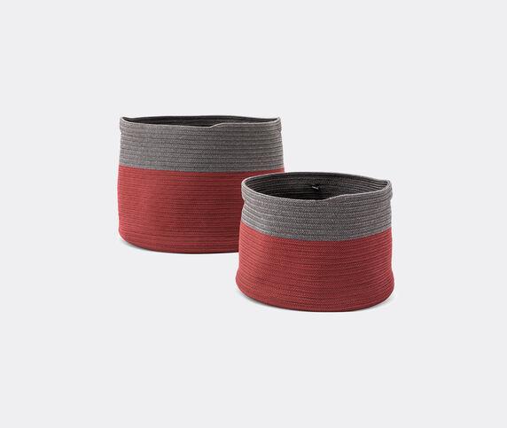 Cassina 'Podor' baskets, set of two, burgundy & grey