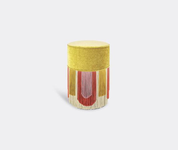 Lorenza Bozzoli Couture 'Couture Geometric Decò' ottoman, yellow