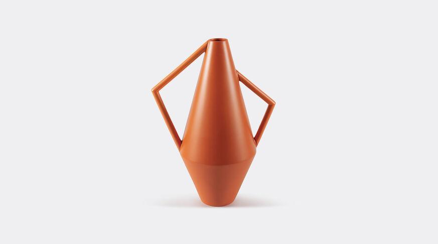 Atipico Koravase Ceramic Vase - Ø Mm 240Xh.525 - Col. Deep Orange 1