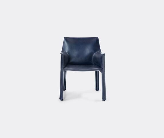 Cassina 'Cab 413' armchair, leather, blue