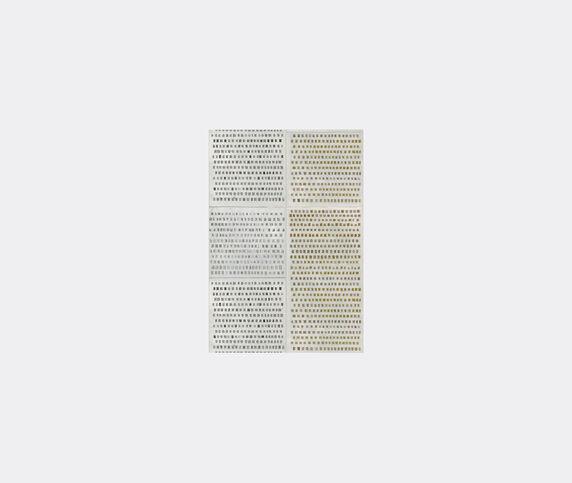 Wall&decò 'Changing Dots Ts' wallpaper, grey and ochre