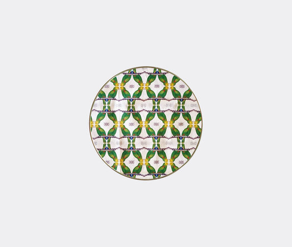 Les-Ottomans Patch NYC tray, green and white