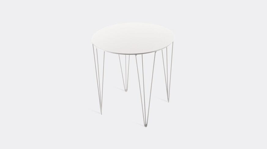 Atipico Chele Rounded Coffee Table - Cm. Ø 40Xh.40 - Signal White 1