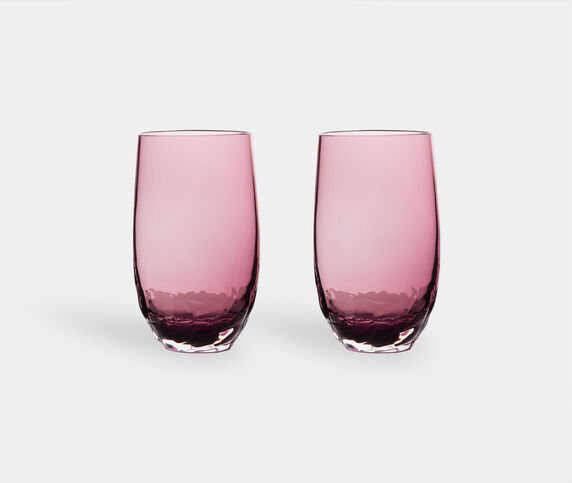 Stories of Italy 'Dattero' set of two glasses, amethyst