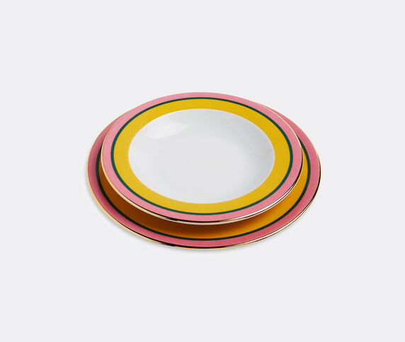 La DoubleJ 'Rainbow Giallo' soup and dinner plate set