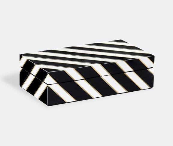 Reflections Copenhagen Venice Cabinet | Black/White/Brass 1