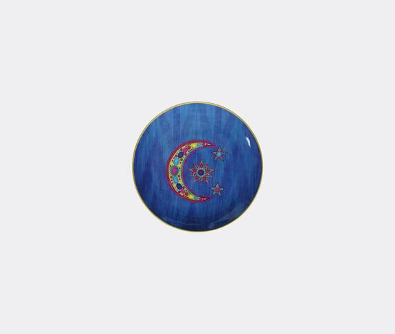 Les-Ottomans Set of four porcelain plates, blue, small