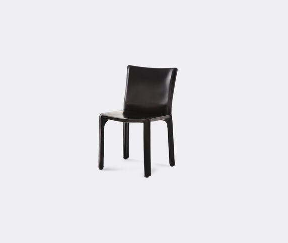 Cassina 'Cab 412' chair, leather, black