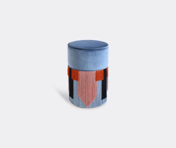 Lorenza Bozzoli Couture 'Couture Geometric Tie' ottoman, blue