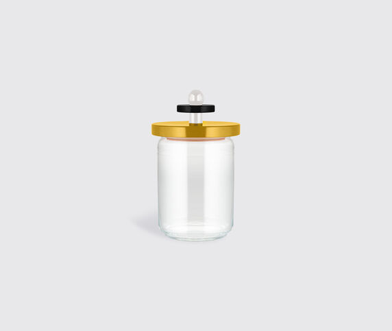 Alessi '100 Values Collection' glass jar, yellow