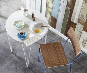 Atipico Chele Rounded Coffee Table - Cm. Ø 40Xh.40 - Signal White 3