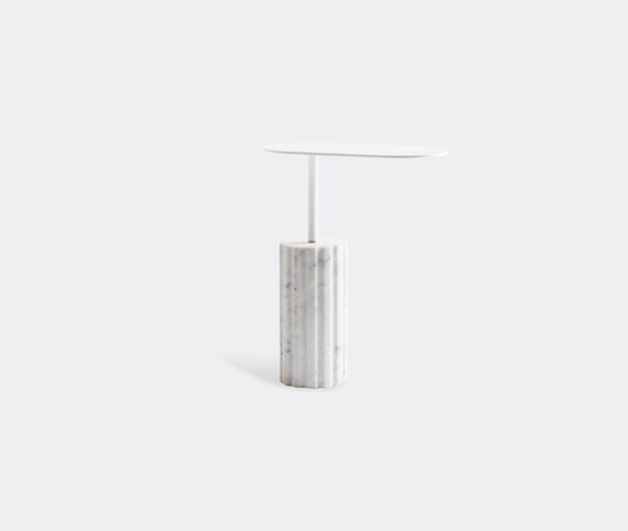Aparentment 'Column' side table, white and grey