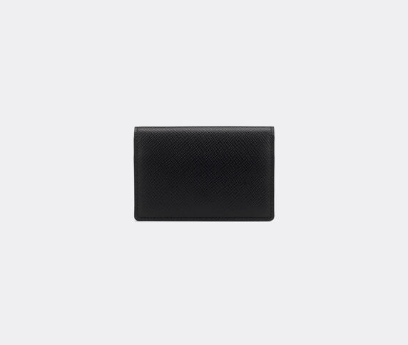 Smythson 'Panama' folding card case, black