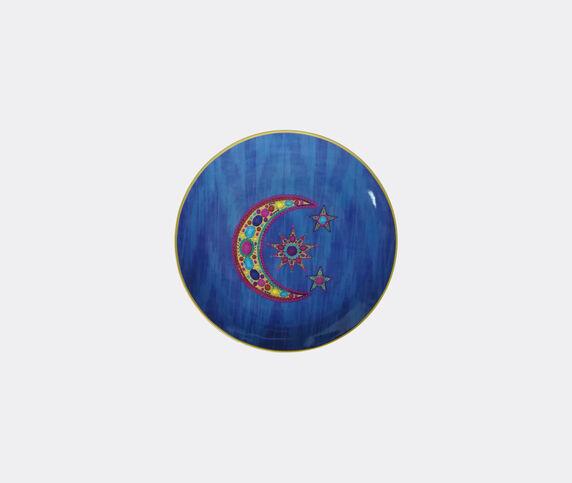 Les-Ottomans Set of four porcelain plates, blue, large
