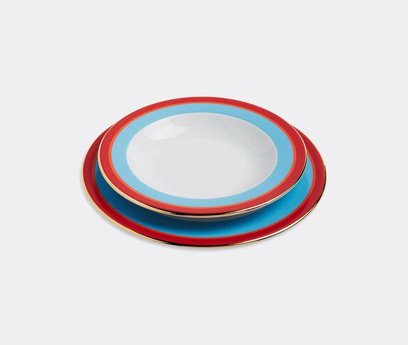 La DoubleJ 'Rainbow Azzurro' soup and dinner plate set