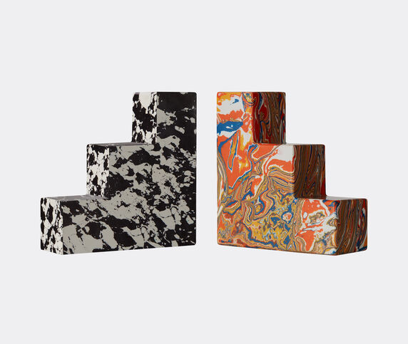 Tom Dixon 'Swirl' stepped bookends, set of two