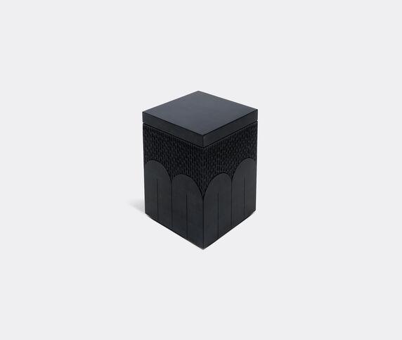 Zanat 'Branco' box, tall, black
