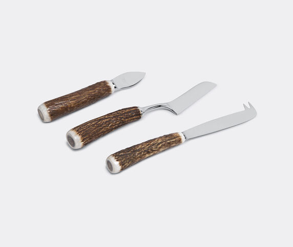 Lorenzi Milano Stag antler cheese knife set