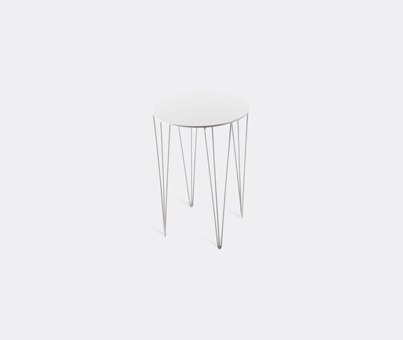 Atipico Chele Rounded Coffee Table - Cm. Ø 35Xh.50 - Signal White 2