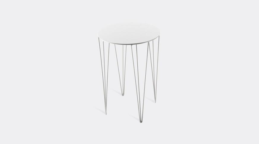 Atipico Chele Rounded Coffee Table - Cm. Ø 35Xh.50 - Signal White 1